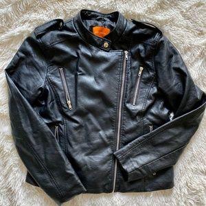 Joe Fresh sz L Black Pleather Jacket